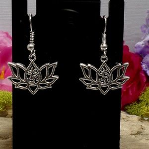 Om Lotus Earrings - Flower Earrings